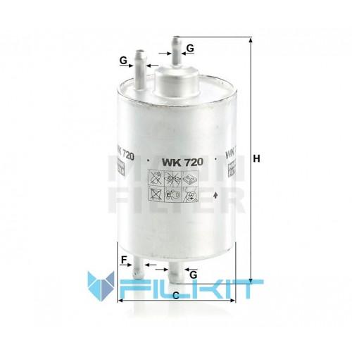 Фільтр паливний WK 720 [MANN]