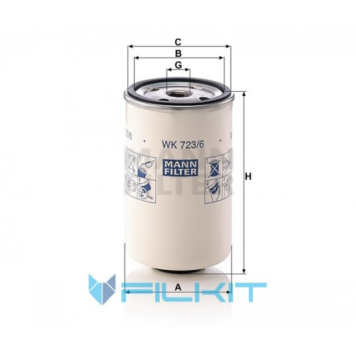 Fuel filter WK 723/6 [MANN]