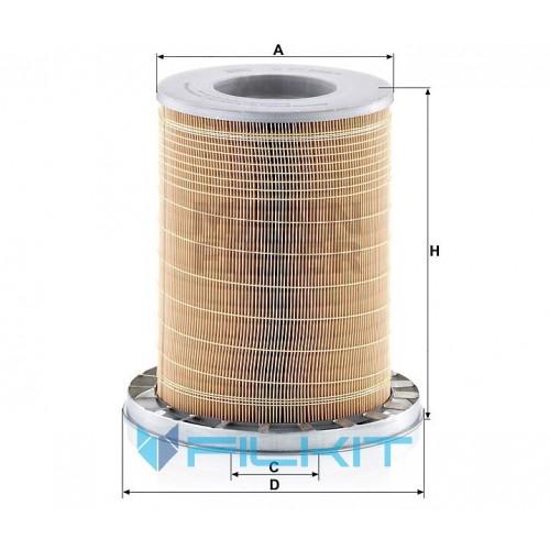Air filter C 23 589/1 [MANN]