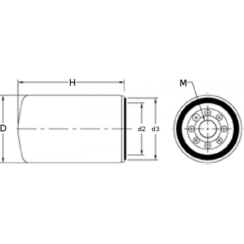 Fuel filter PFF5612 [Parker   Racor]