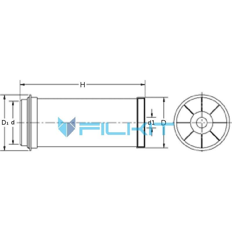 Air filter 93348E [WIX]