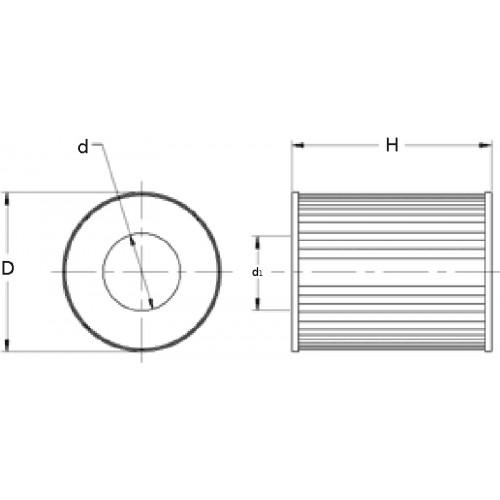 Fuel filter (insert) E7040KP10 [Hengst]