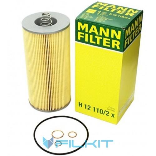 Фільтр масляний (вставка) H12110/2x [MANN]