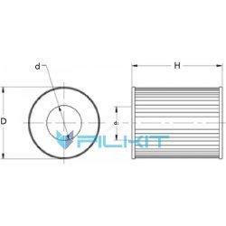 Fuel filter (insert) 95022E [WIX]