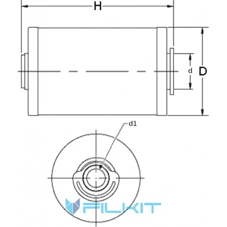 Fuel filter (insert) P550861 [Donaldson]