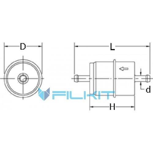 Фiльтр паливний Donaldson P 550090