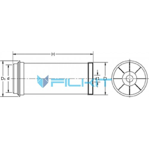 Hydraulic filter (insert) HD519 [MANN]