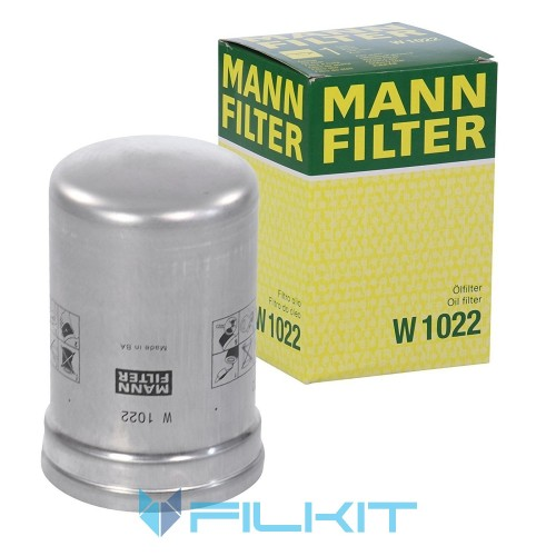 Фiльтр масляний MANN 1022 W