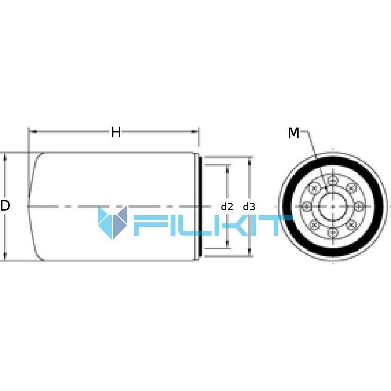 Oil filter W1254x [MANN]