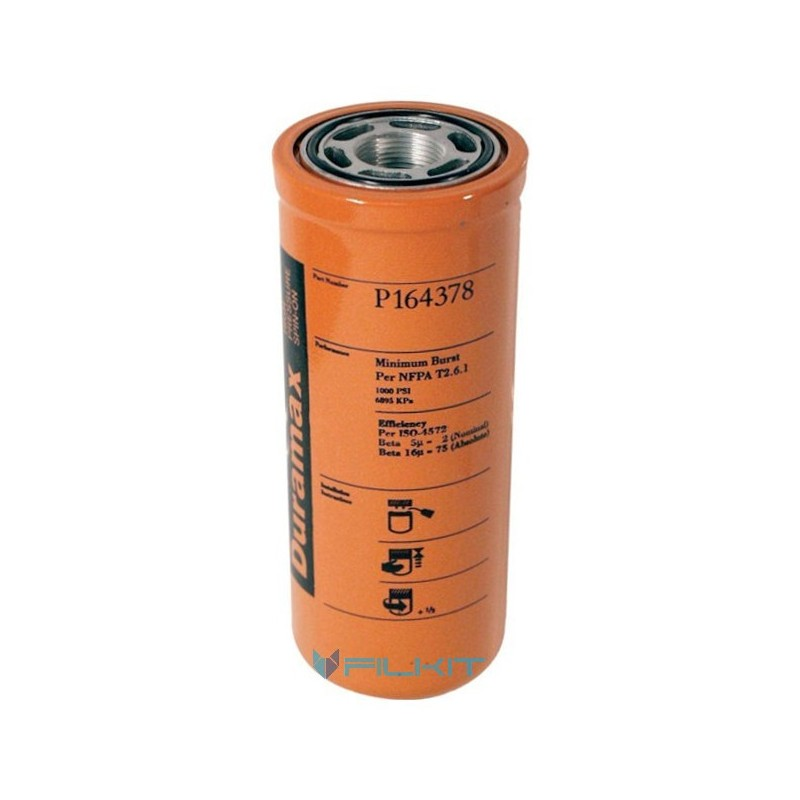 Hydraulic filter P164378 [Donaldson]
