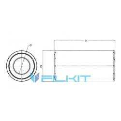 Air filter 49711 [WIX]
