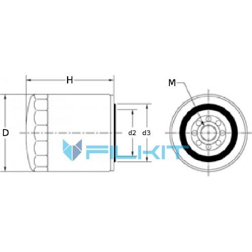 Oil filter W962/8 [MANN]