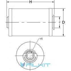 Oil filter (insert) P550315 [Donaldson]