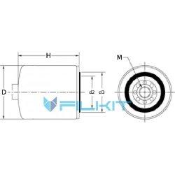 Фiльтр паливний Donaldson P 551027 water separator