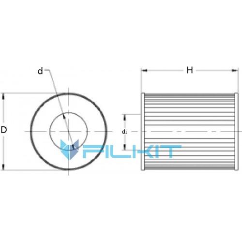 Oil filter (insert) P550761 [Donaldson]