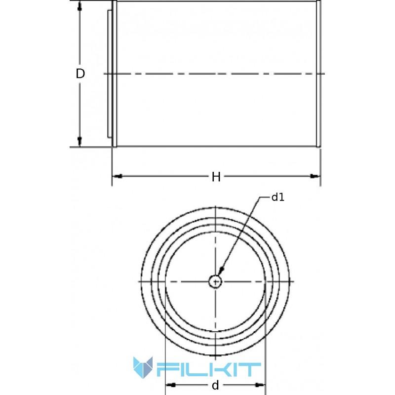 Air filter 46430Е [WIX]
