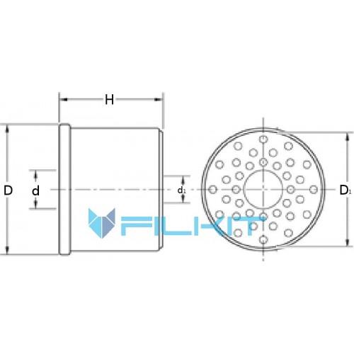 Фільтр паливний E75K D42 [Hengst]