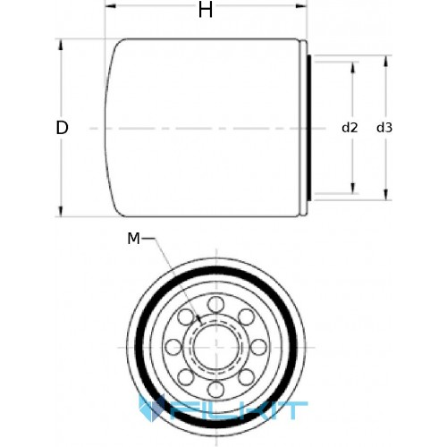 Фильтр системы охлаждения 24071 [WIX]