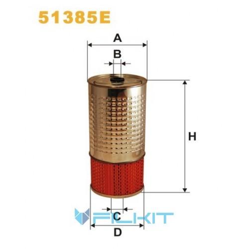 Oil filter (insert) 51385E [WIX]