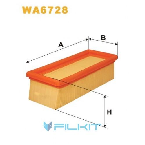 Фільтр повітряний WA6728 [WIX]