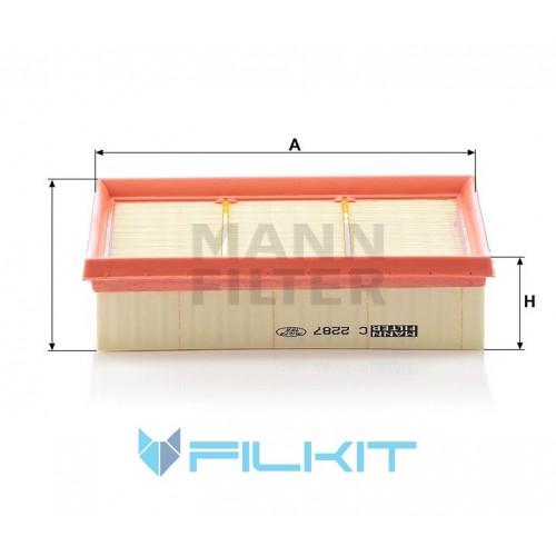 Air filter C 2287 [MANN]