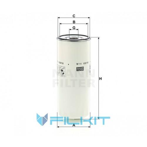 Oil filter W 11 102/10 [MANN]