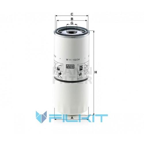 Oil filter W 11 102/34 [MANN]