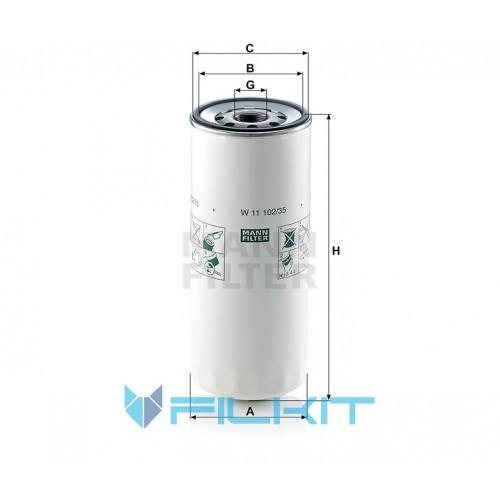 Oil filter W 11 102/35 [MANN]