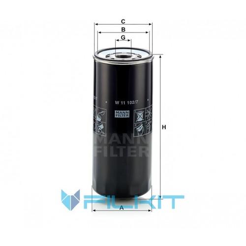 Oil filter W 11 102/7 [MANN]
