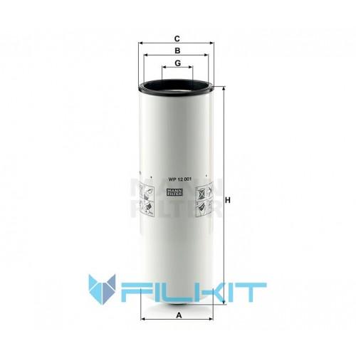 Oil filter WP 12 001 [MANN]