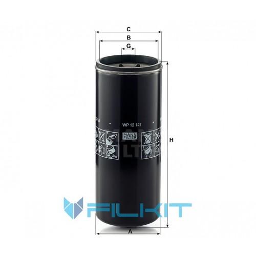 Oil filter WP 12 121 [MANN]