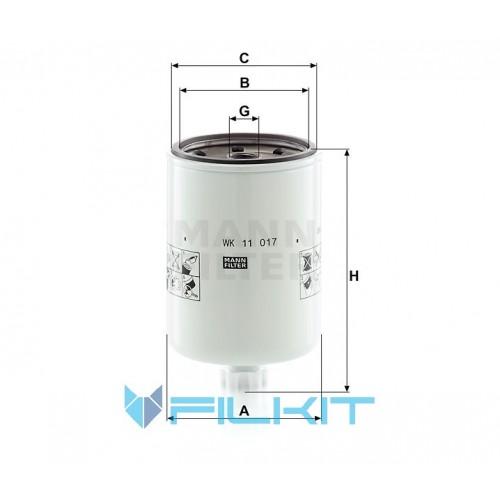 Fuel filter WK 11 017 [MANN]