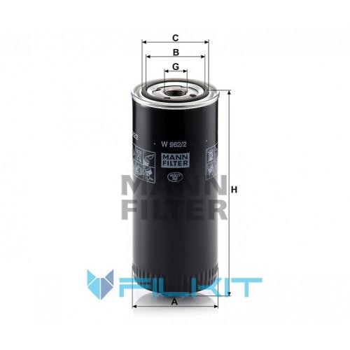 Oil filter W 962/2 [MANN]